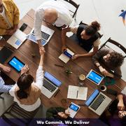 Tech staffs in a meeting