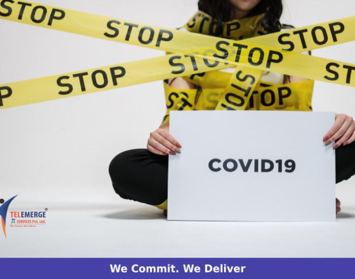 Covid Outbreak Shutdown Woman Yellow Tape